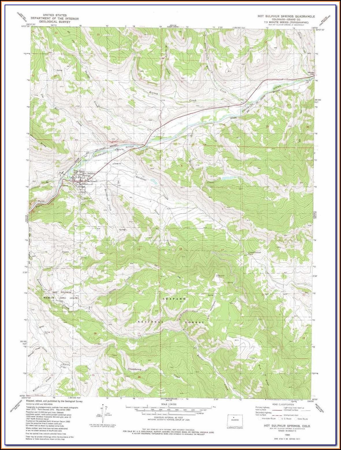 Topo Maps Colorado Hunting Units