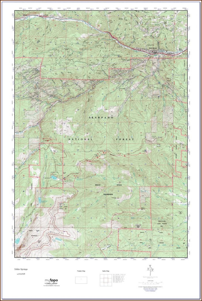 Topo Maps Colorado Springs