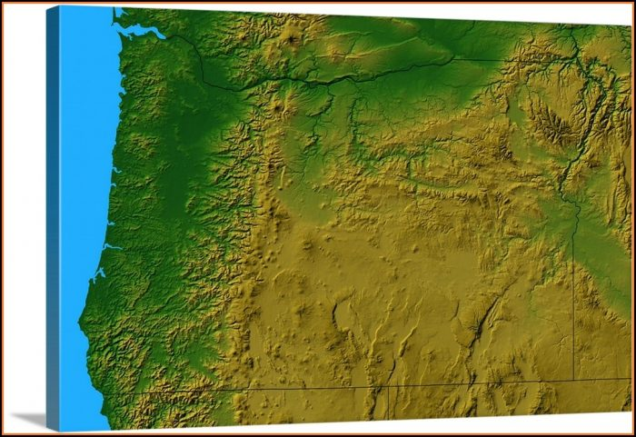Topographic Map Of Oregon