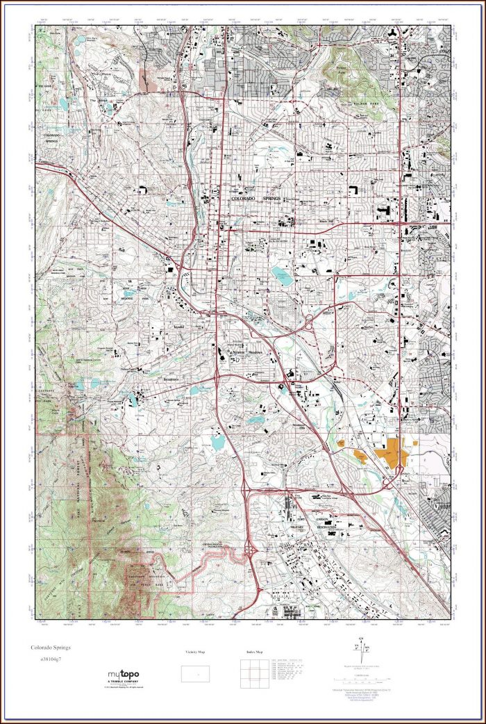 Topographic Maps Colorado Free