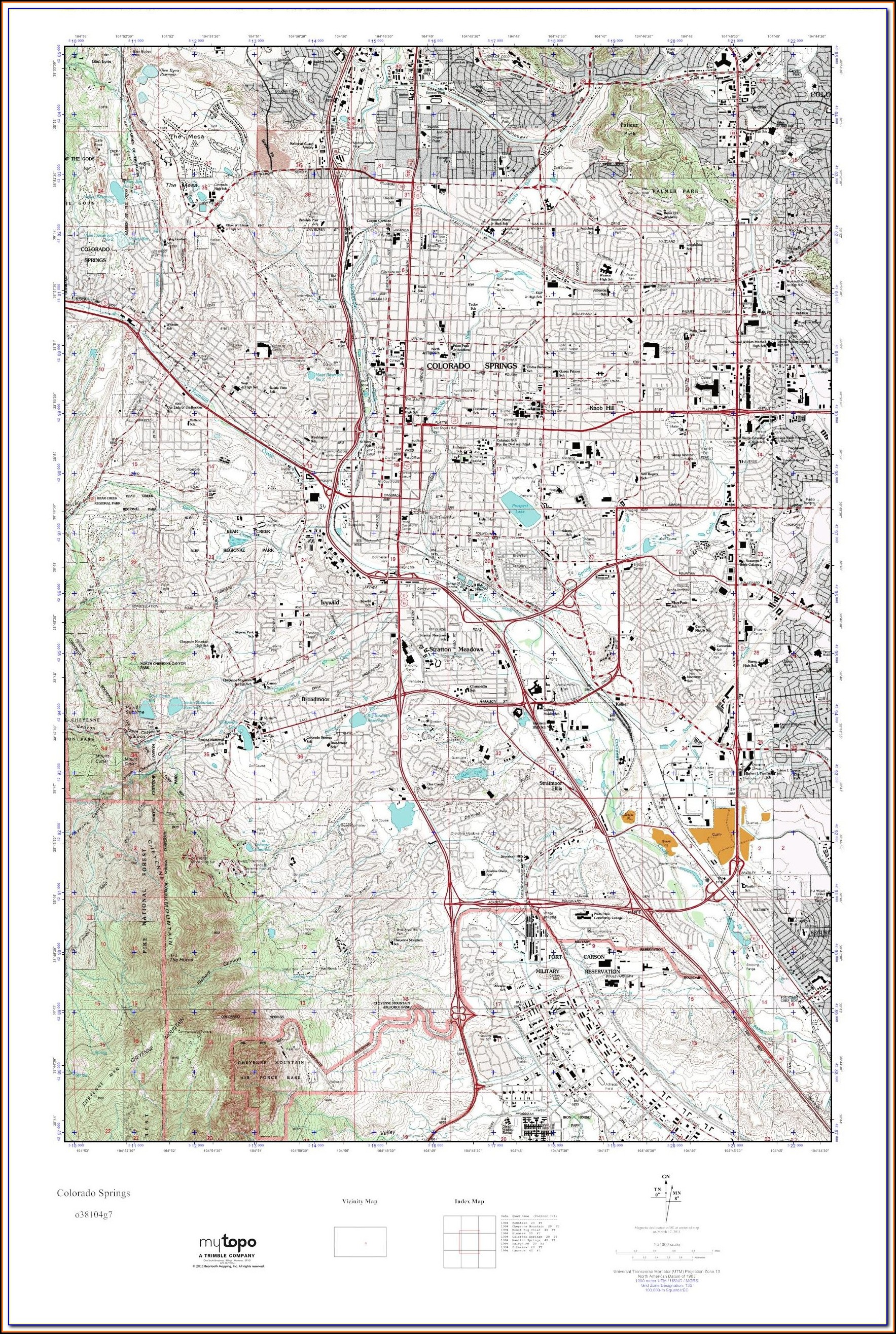 Topographic Maps Colorado Free