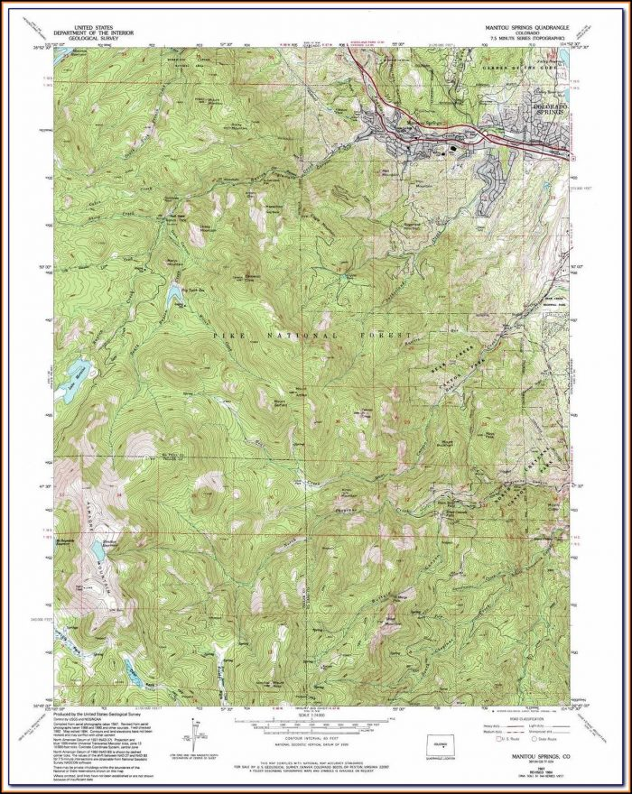Topographic Maps Colorado Springs
