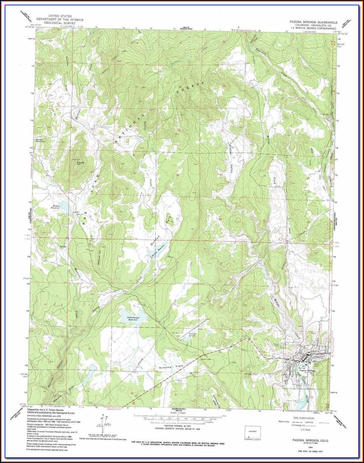 Topographic Maps Colorado Trail