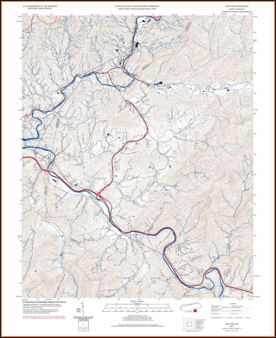 Trail Map Of Great Smoky Mountain National Park