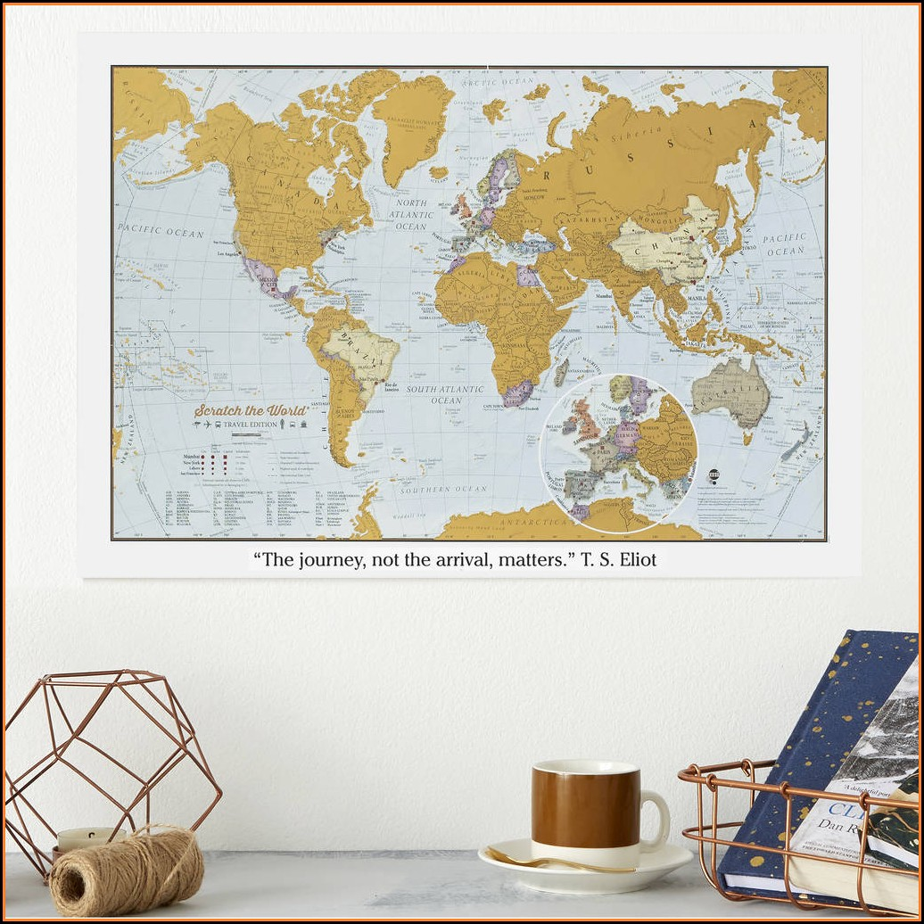 Travel World Personalised Scratch Map