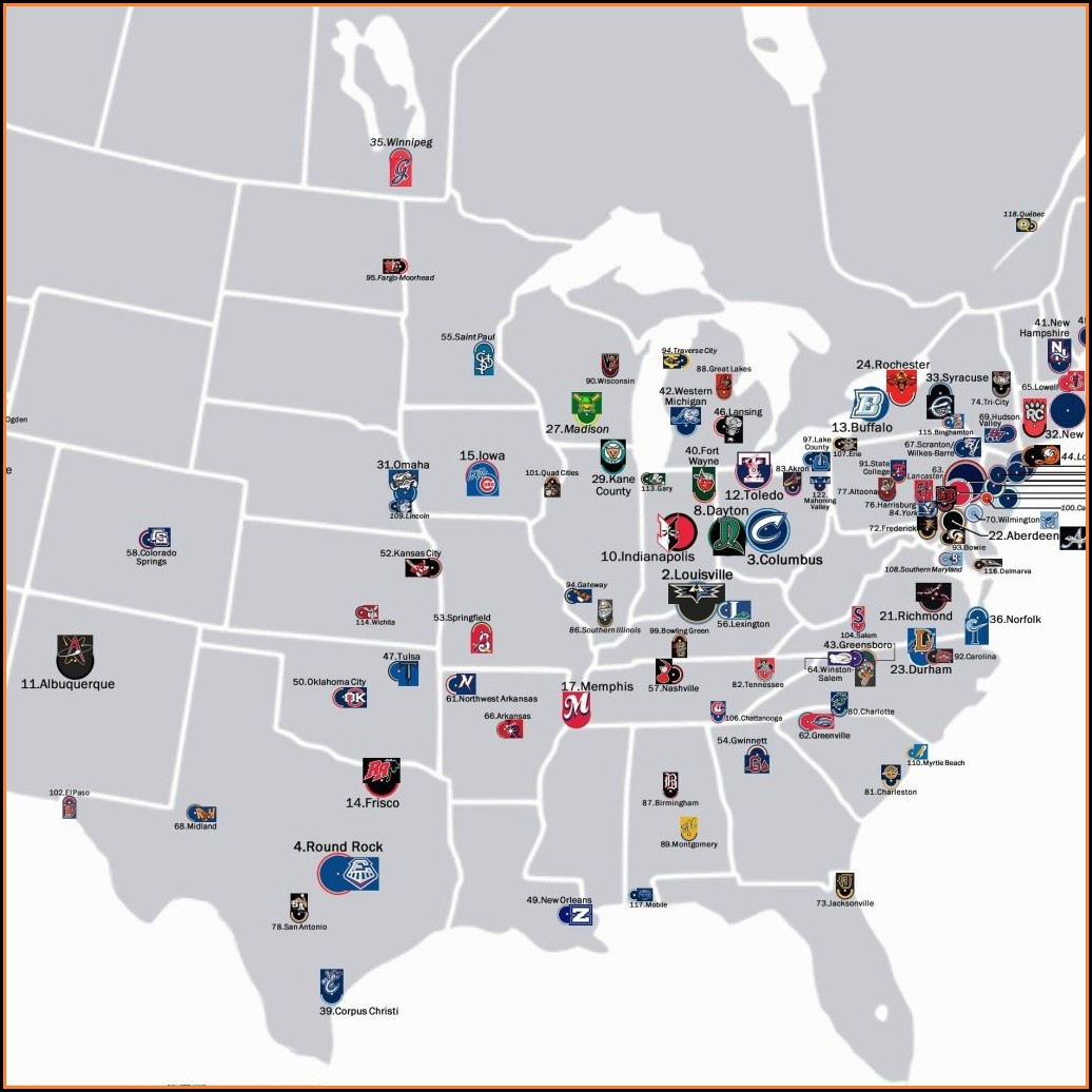 Us Map Of Mlb Ballparks