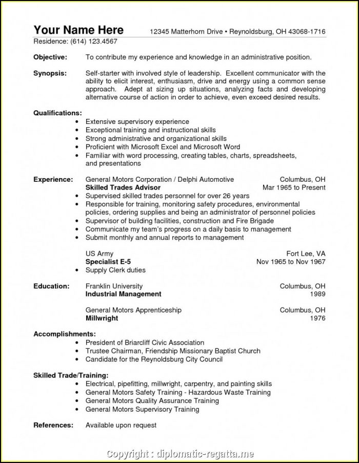 Warehouse Supervisor Cv Sample