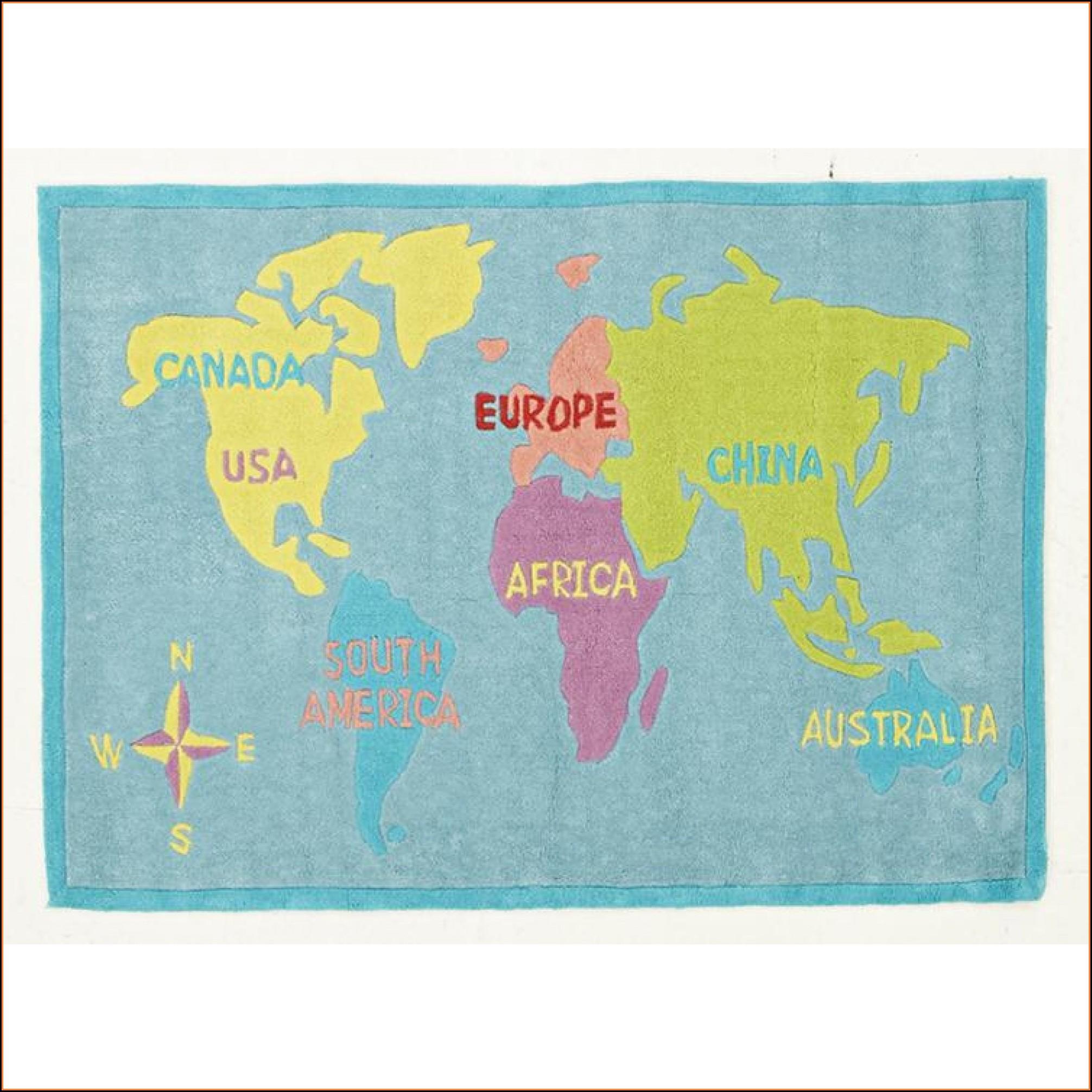 World Map Rugs