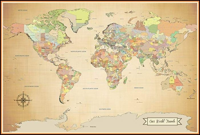 World Travel Map Push Pins Amazon