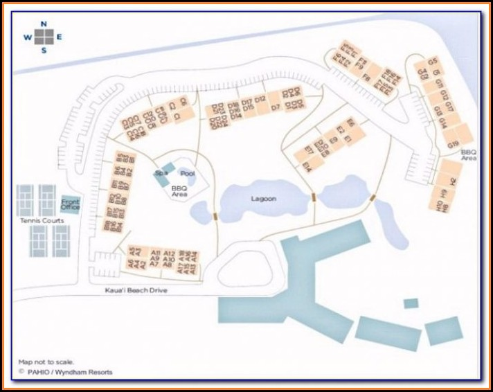 Wyndham Kauai Beach Villas Map