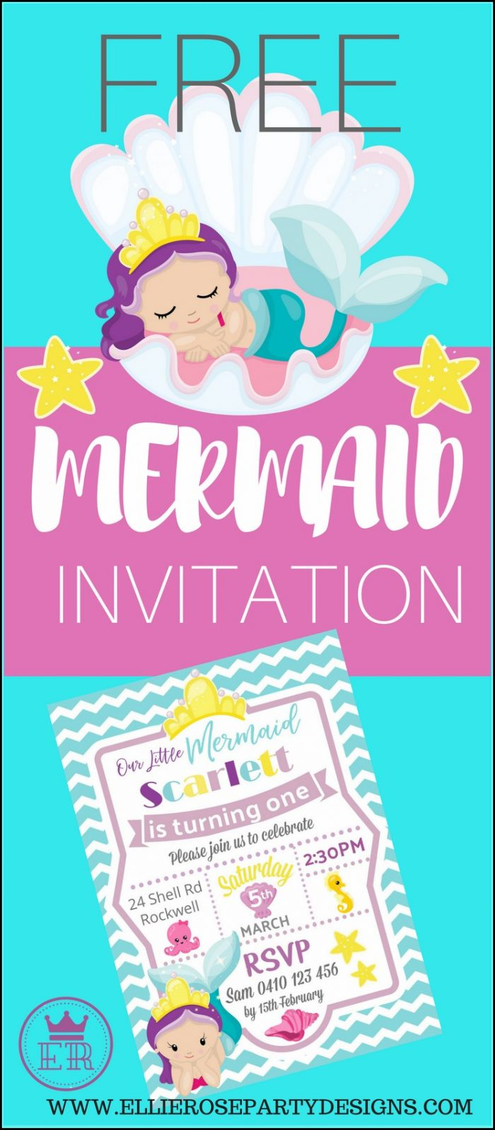 Free Mermaid And Pirate Invitation Template