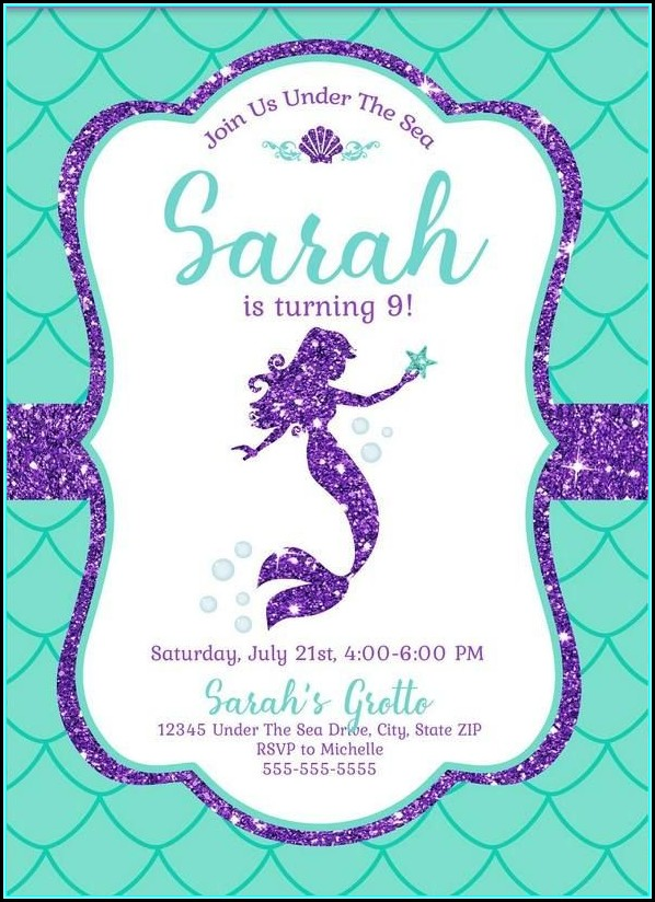 Free Mermaid Invitation Template