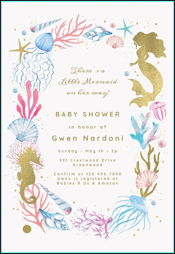 Free Mermaid Invitation Templates
