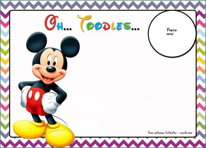 Free Mickey Mouse Birthday Invitation Template