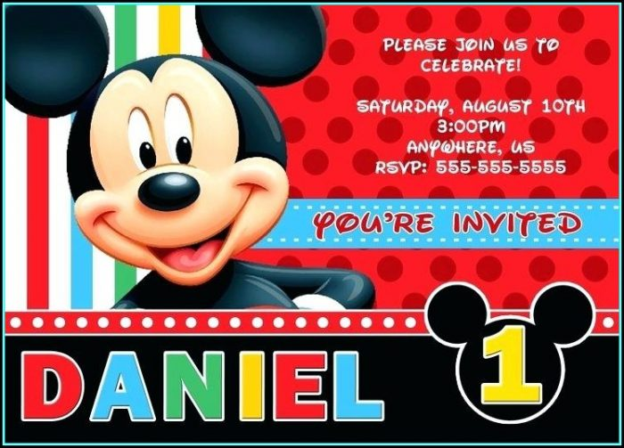 Free Mickey Mouse Invitation Template Online