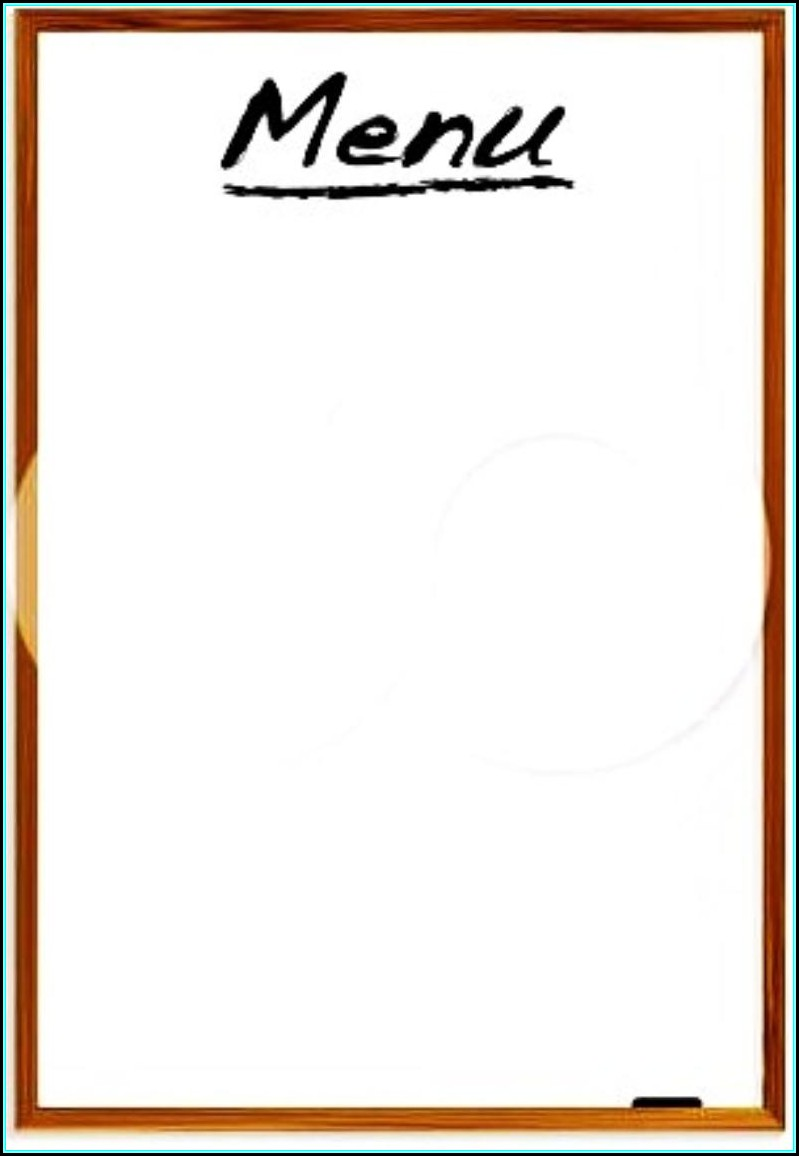 Free Printable Blank Restaurant Menu Templates
