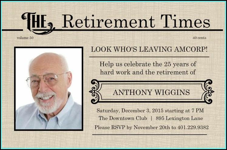 Free Printable Retirement Flyer Template