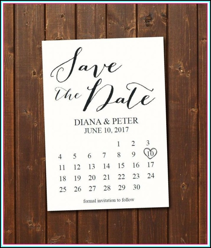 Free Printable Save The Date Calendar Templates