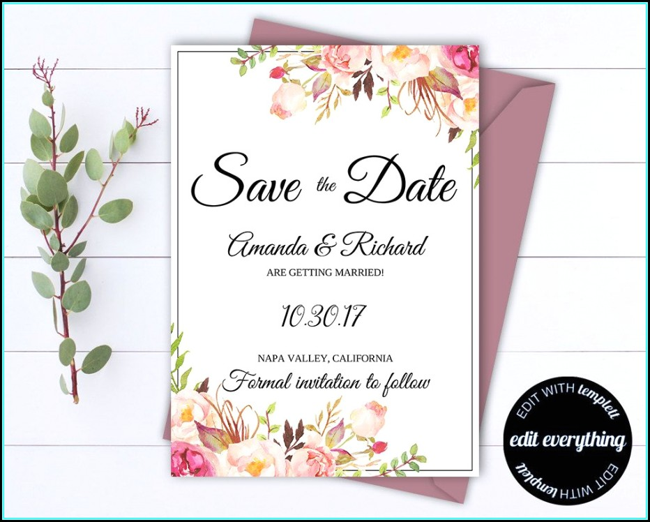 Free Printable Save The Date Invitation Templates