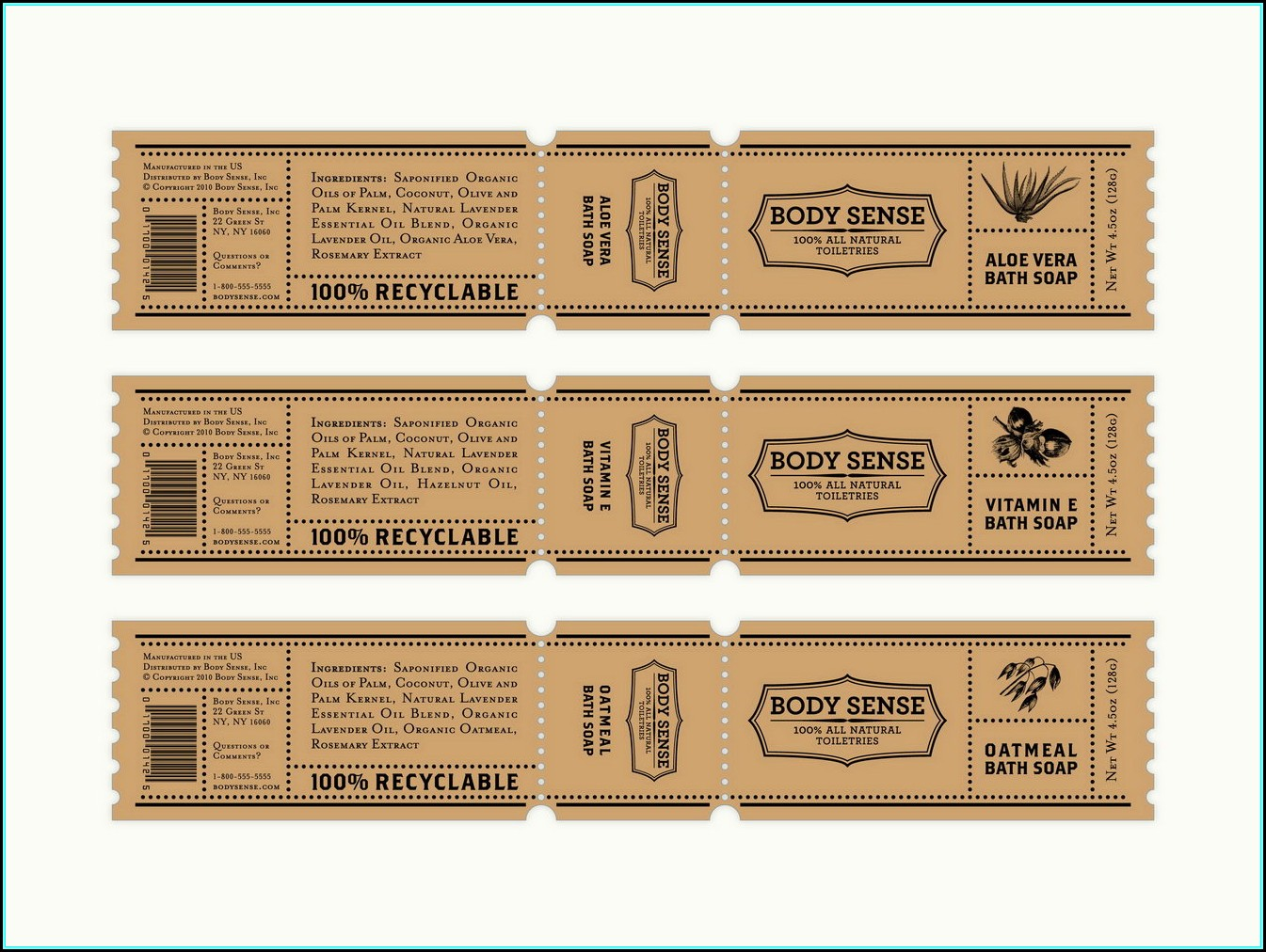 Free Printable Soap Label Templates