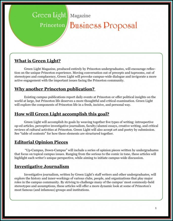 Free Proposal Template Doc