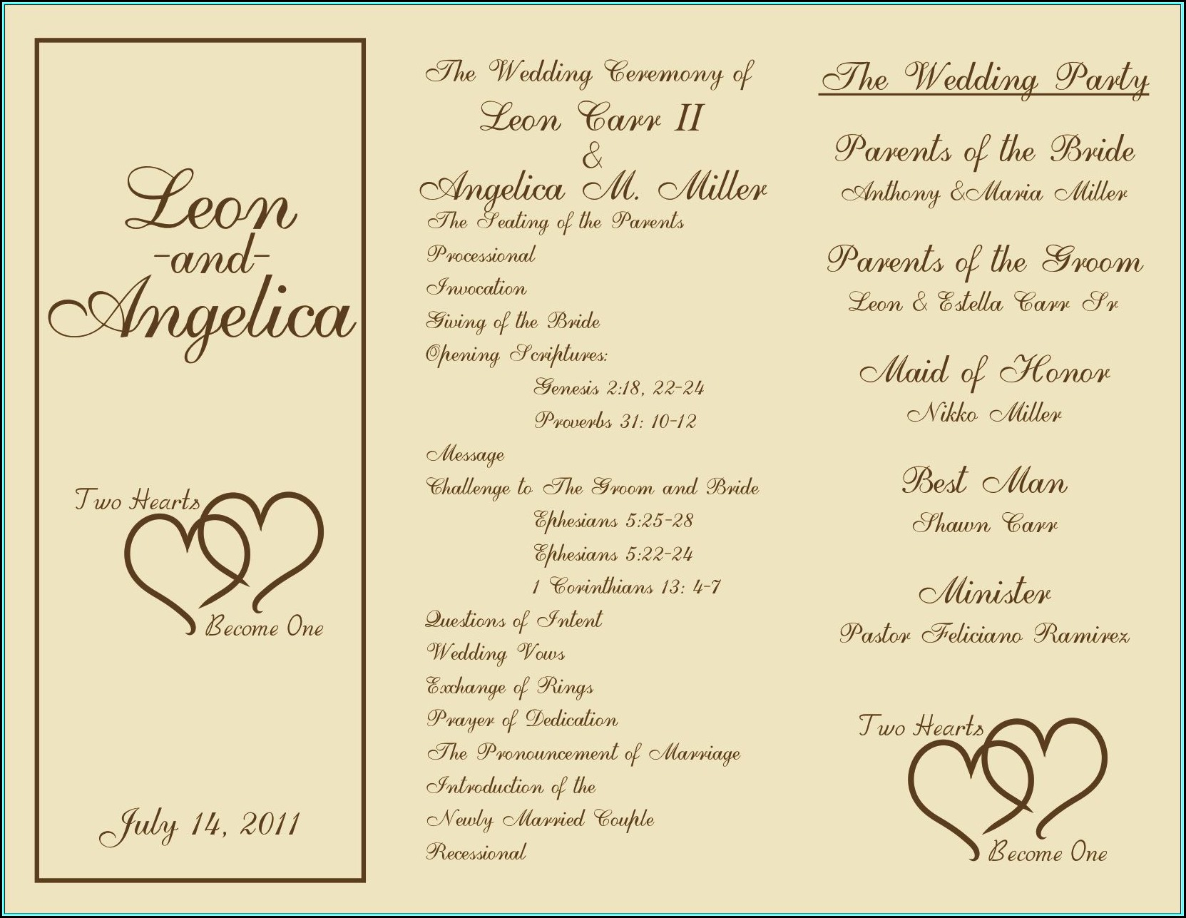 Free Sample Wedding Programs Templates