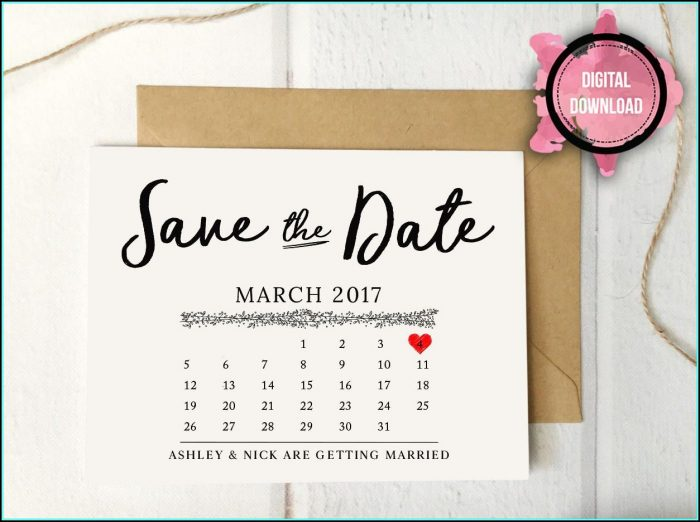 Free Save The Date Birthday Postcard Templates
