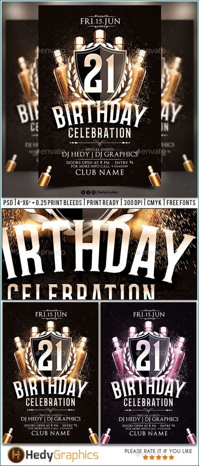 Free Surprise Birthday Party Flyer Templates