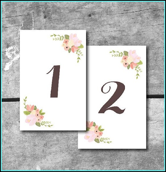 Free Table Number Templates 5x7