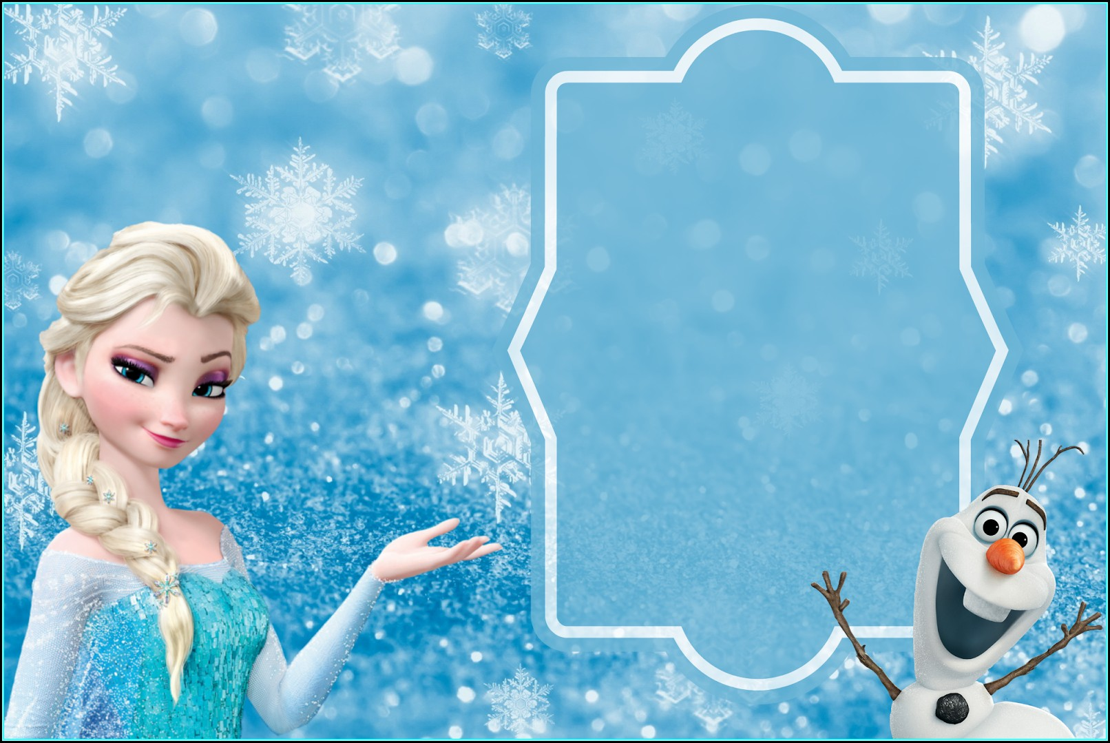 Frozen Elsa Invitation Template