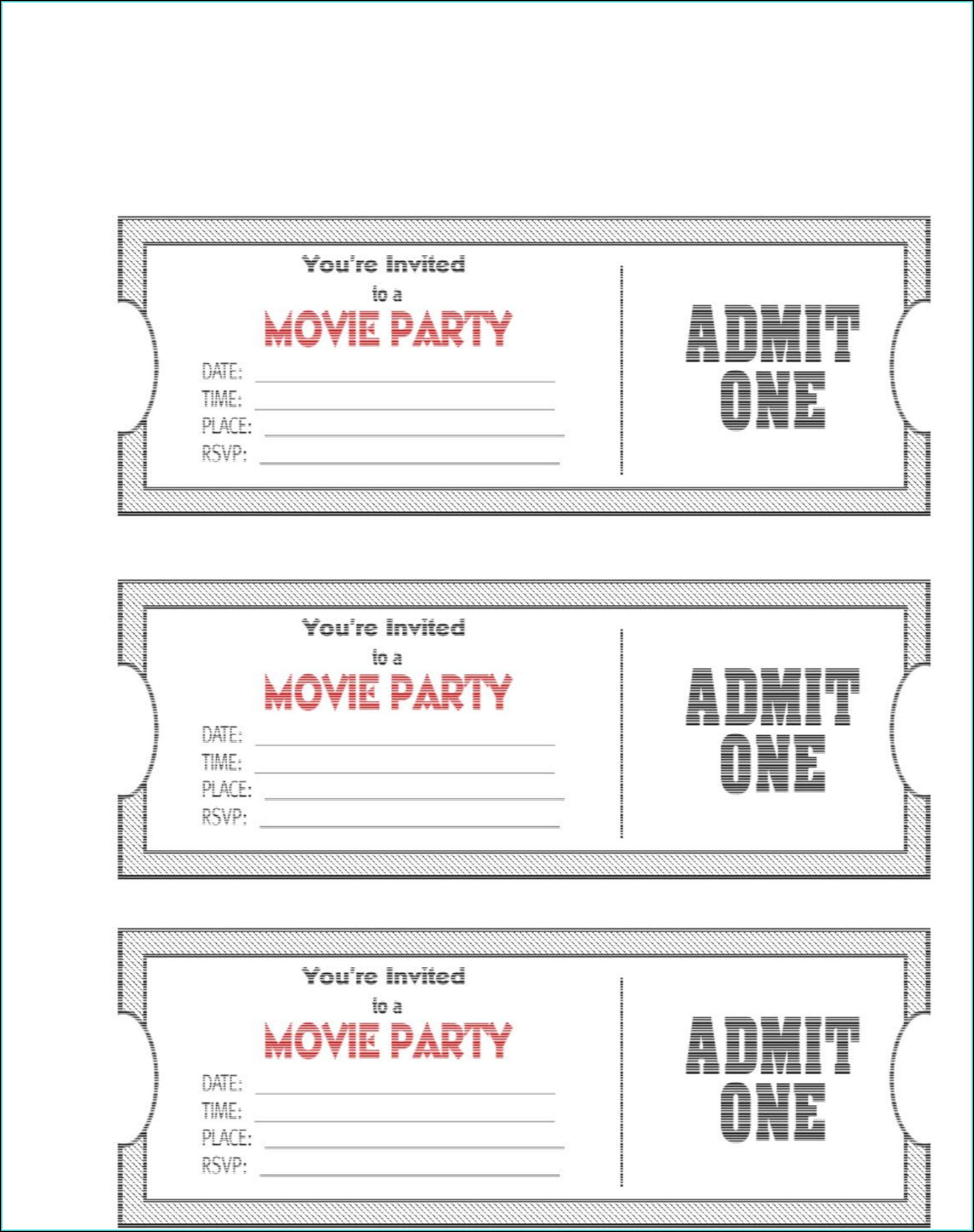 Fundraiser Meal Ticket Template
