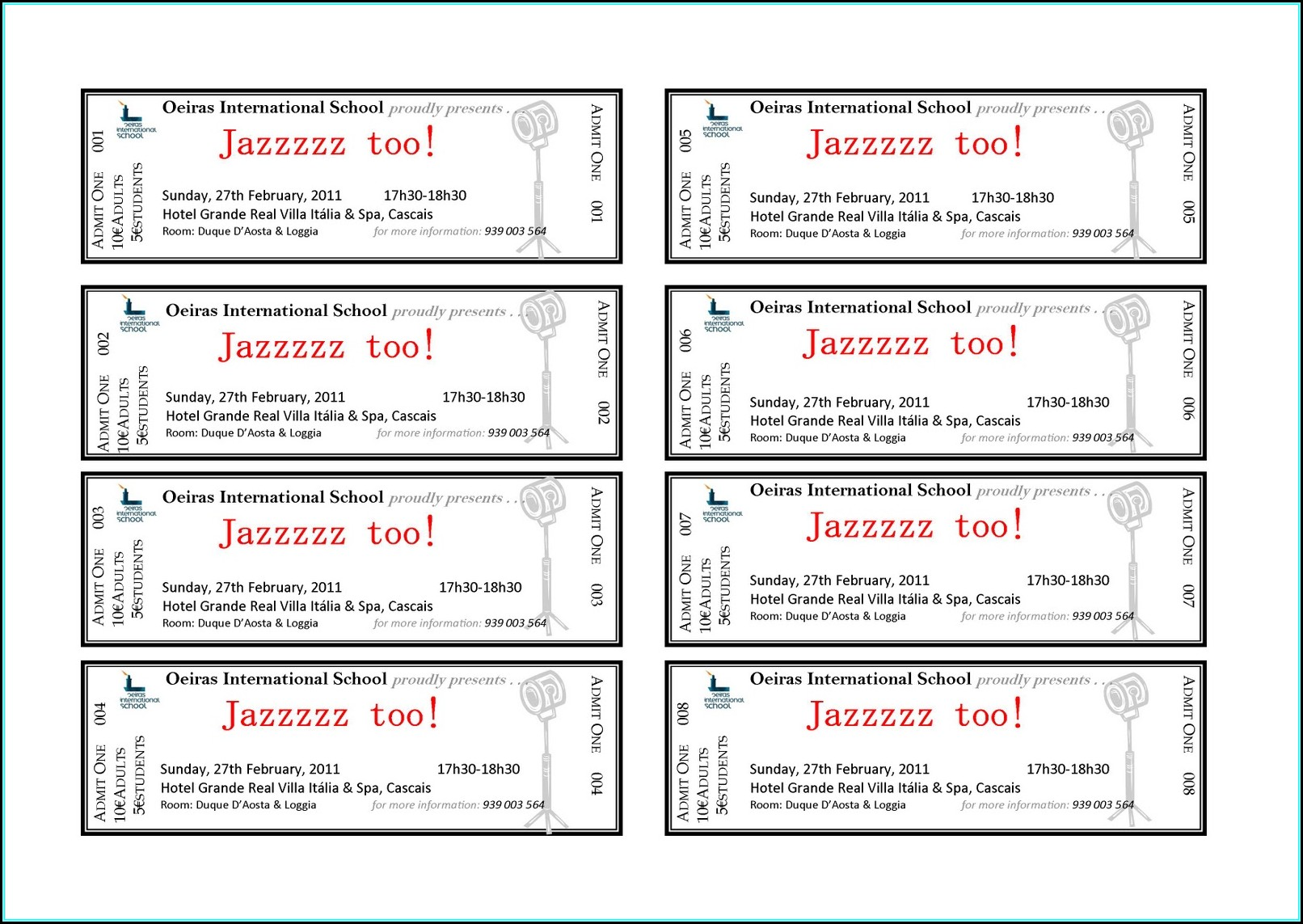 Fundraiser Ticket Template Word