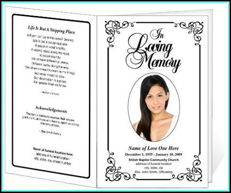 Funeral Service Program Template