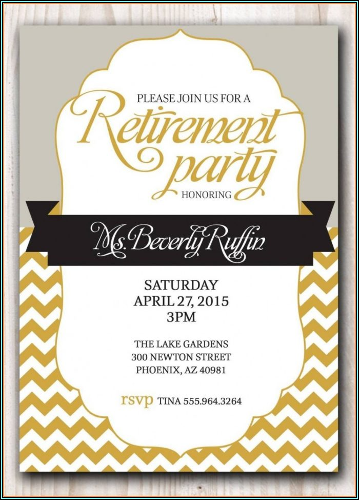 Funny Retirement Invitation Template Free
