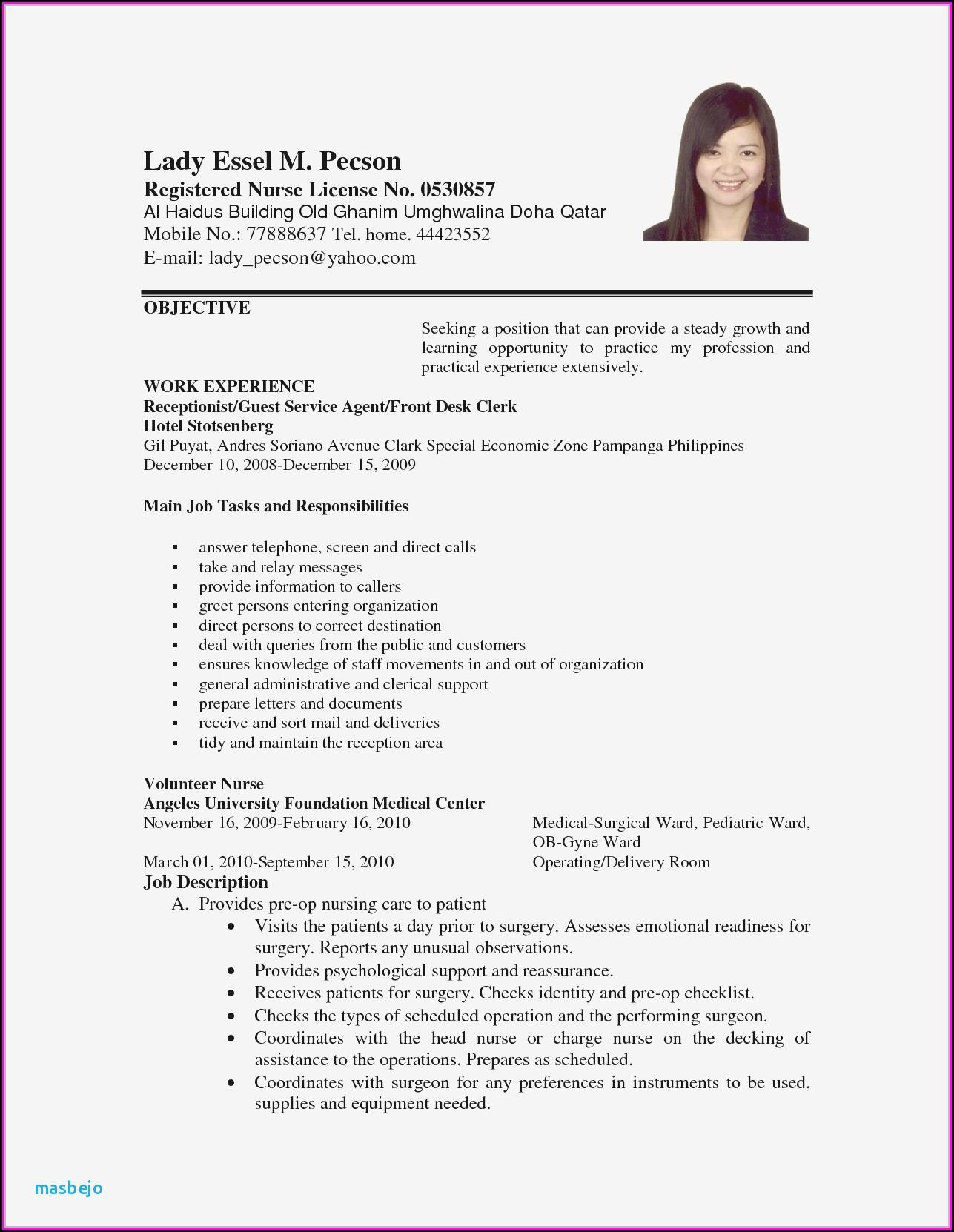 Copyable Resume Templates