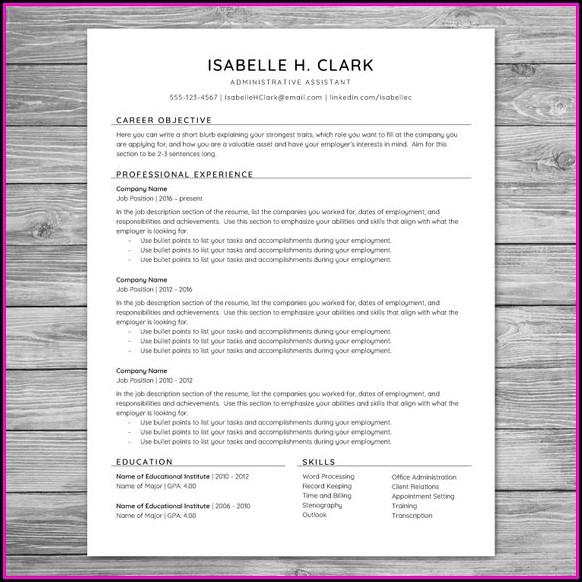 Cv Template Printable