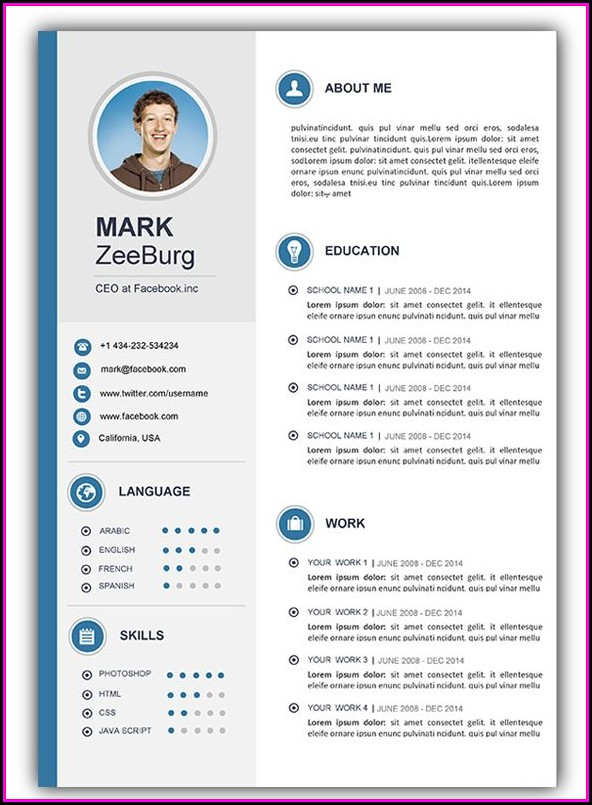 Cv Templates For Word Download