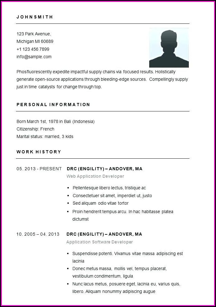 Easy Free Resumes Templates