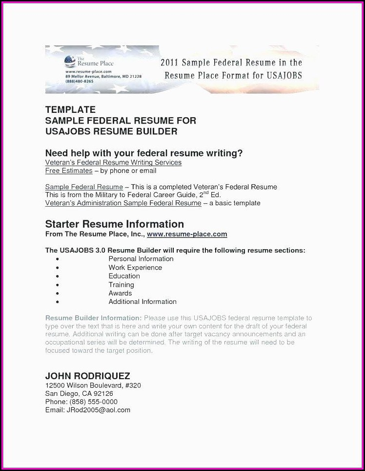 Examples Of Military Resume To Civilian