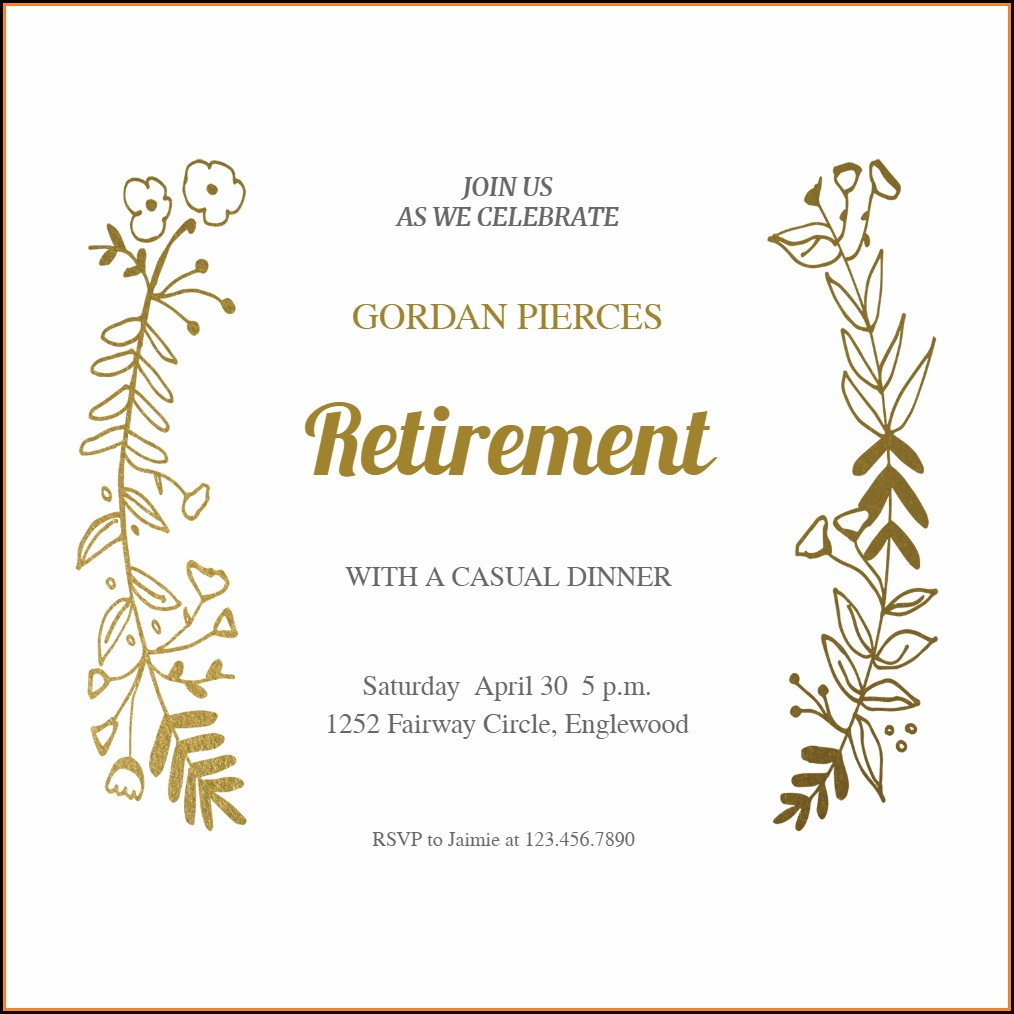 Retirement Farewell Party Invitation Template Free