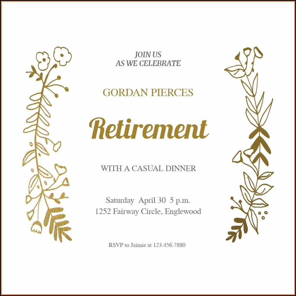 Retirement Farewell Party Invitation Template Free