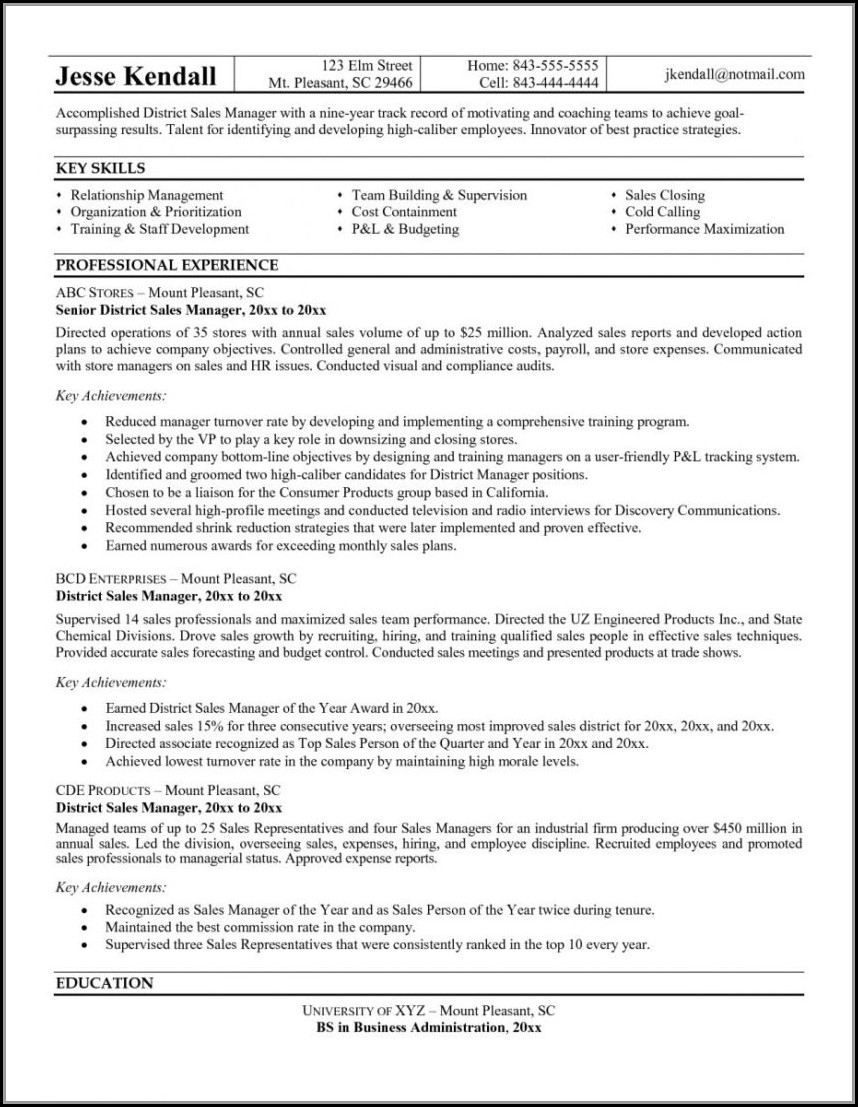 Sample Caregiver Objectives Resume Templates