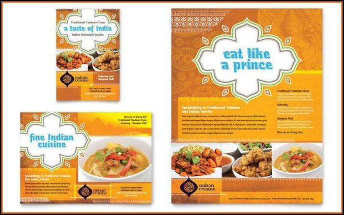 Sample Food Menu Template