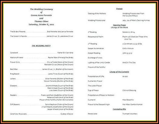 Sample Template For Church Programs