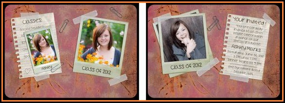 Senior Portrait Templates Photoshop