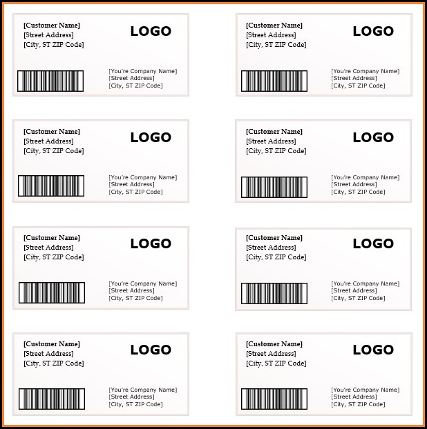 Shipping Label Template Free Word