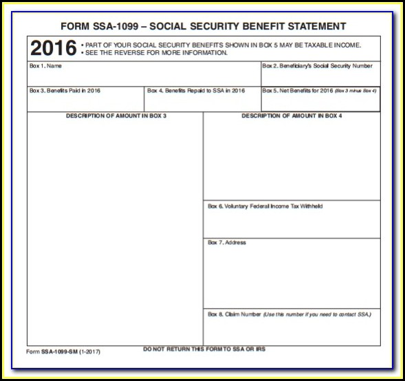 Social Security 1099 Form 2017