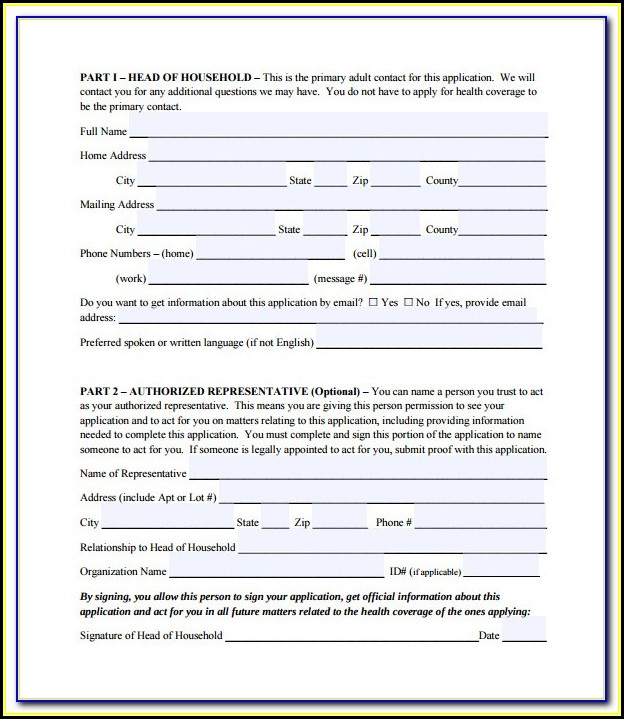 Social Security Medicare Part A Application Form