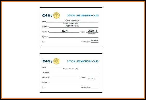 Sports Club Membership Card Template