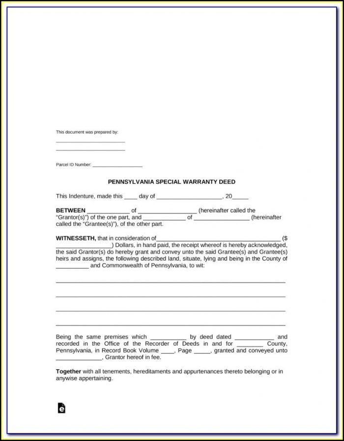 State Of Florida Warranty Deed Form